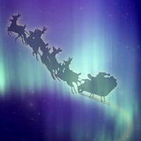 Santa Claus Northern Lights