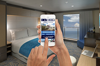 Staying in touch onboard Quantum - photo courtesy of Royal Caribbean