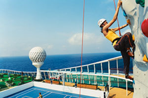 royal caribbean rock-wall