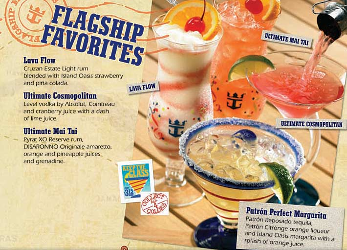 Royal Caribbean Bar Drink Menu