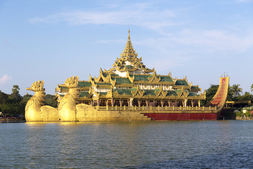 The Floating Barge, Karaweik Hall, Yangon, Burma