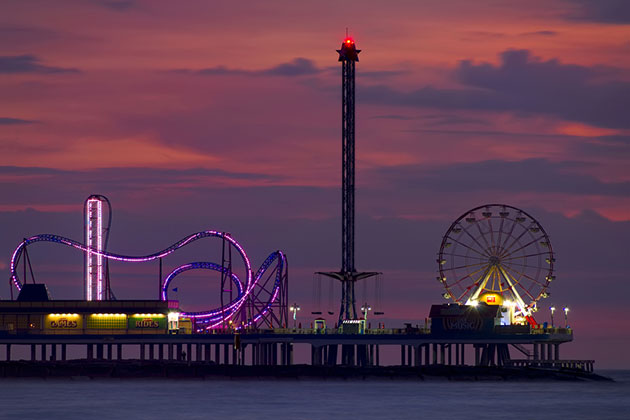 Historic Pleasure Pier, Galveston, Texas