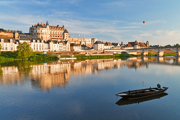 View of Amboise from the Loire River