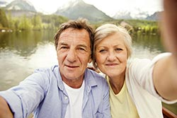 Couple's selfie - photo courtesy of Halfpoint/Shutterstock