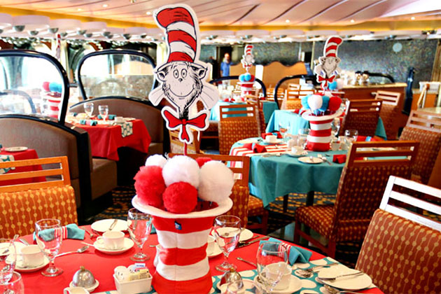 The Seuss character breakfast on Carnival.