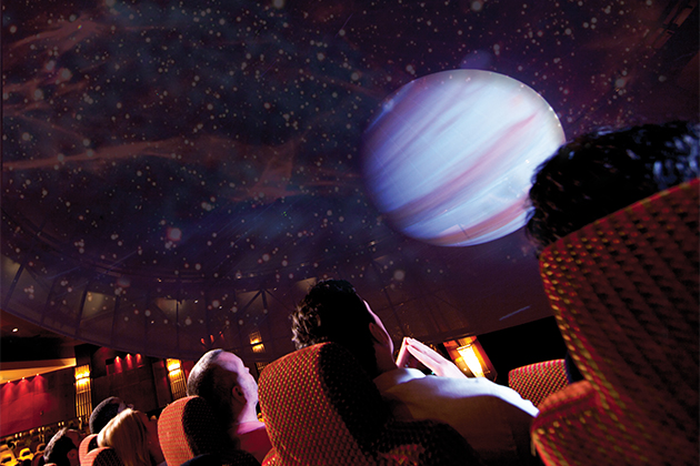 The planetarium on Queen Mary 2.