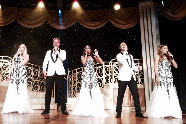 Tribute entertainment on Silversea Cruises.