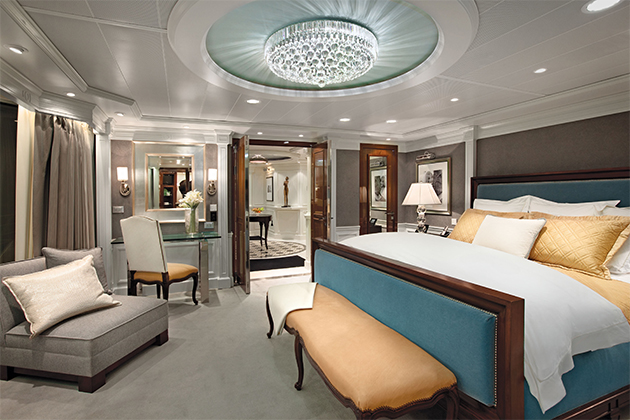 10 best cruise ship suites cruise critic. Black Bedroom Furniture Sets. Home Design Ideas