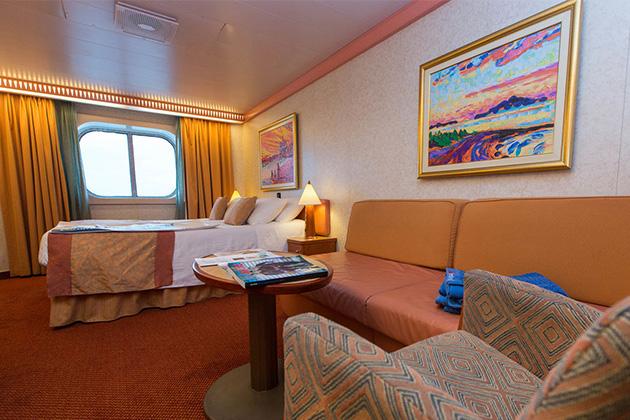 Carnival Freedom oceanview cabin