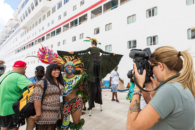 cruise passengers docked in Cozumel