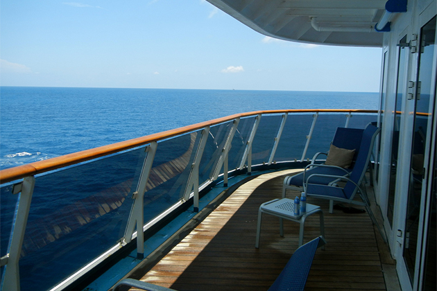 Find a cruise aft balcony