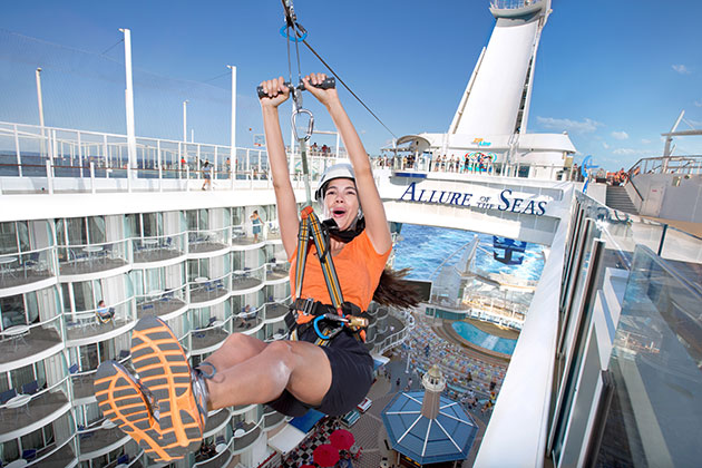 Allure of the Seas - Ziplining