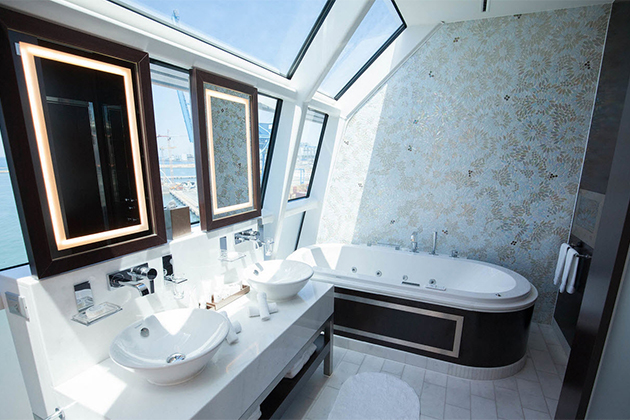 The Reflection Suite bathroom onboard Celebrity Reflection.