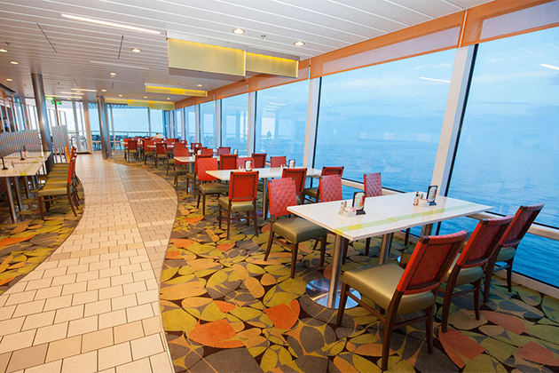 The Oceanview Cafe onboard Celebrity Reflection.