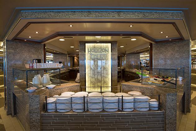 Princess Cruises' Horizon Court buffet on Regal Princess.