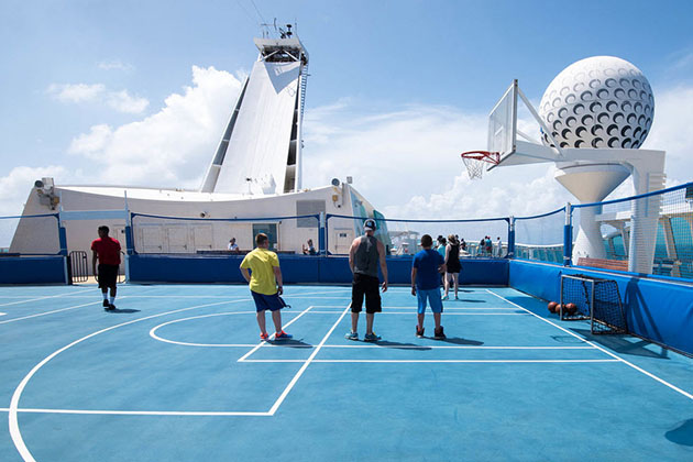 Sports court on Freedom of the Seas