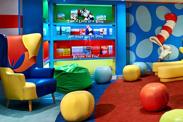 The Dr Seuss Bookville On Carnival Freedom