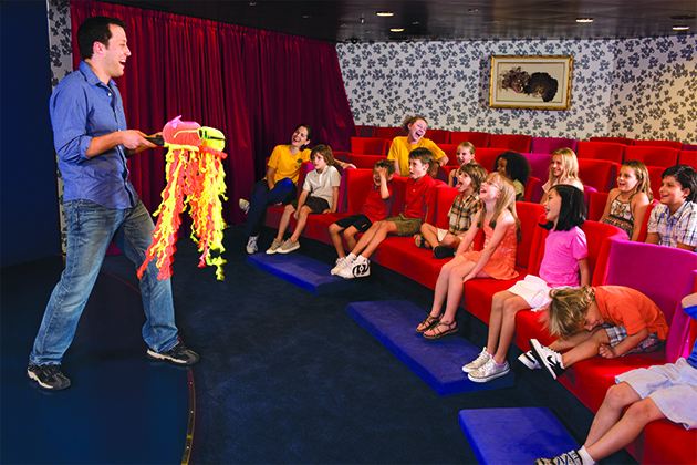 The kids club theater on Oasis of the Seas.