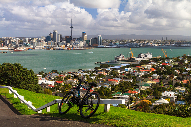 View of Auckland, New Zealand from Mount Victoria