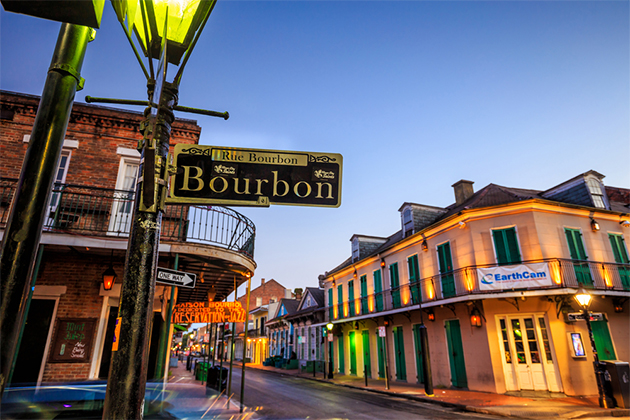 Bourbon Street in New Orleans, Louisiana