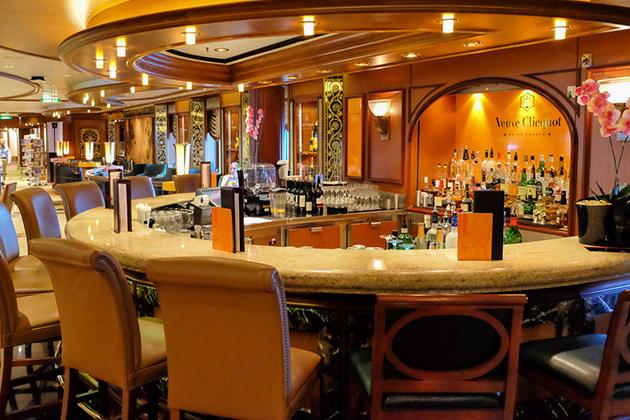 Cunard's Veuve Clicquot Champagne Bar.