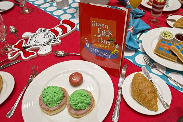 Green eggs and ham served at the Dr. Seuss breakfast (photo: Carnival ...