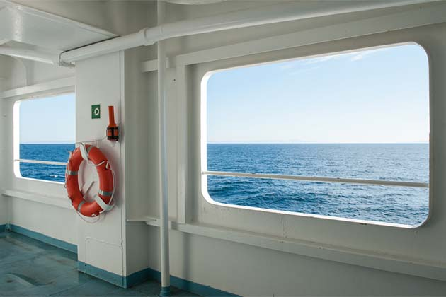 Cruise ship window