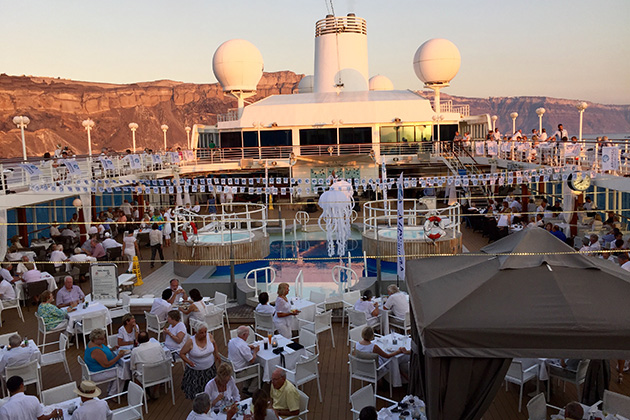 Azamara Club Cruises' White Night Party