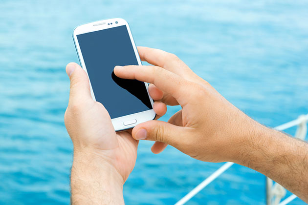 Cellphone on boat