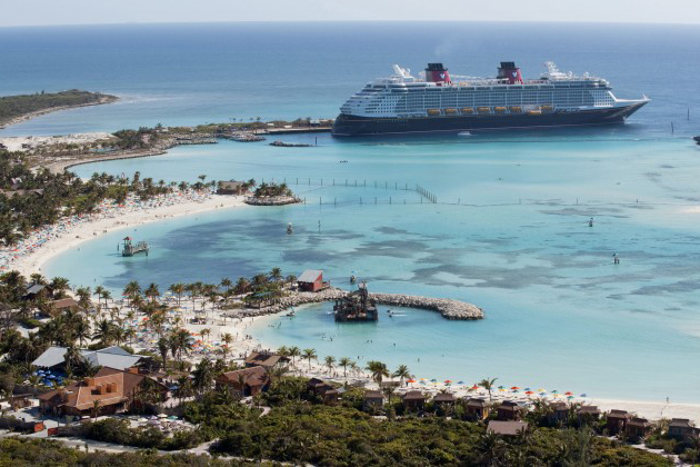 Disney ship at Castaway Cay