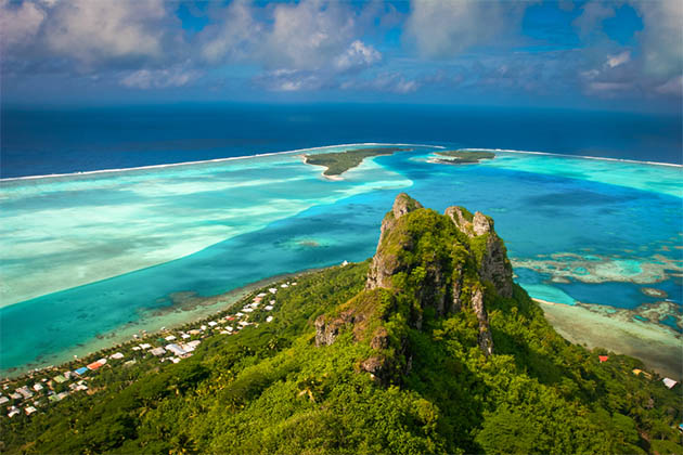 French Polynesia in the South Pacific.