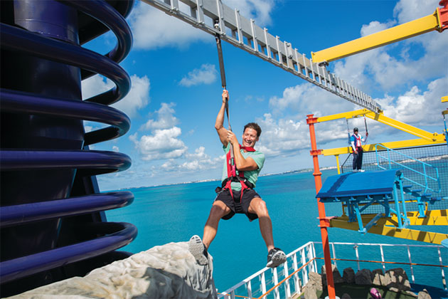 Norwegian Cruise Line's ropes course.