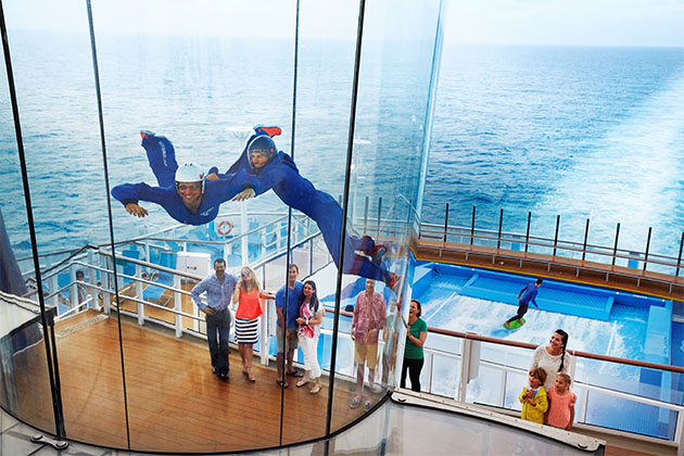 iFly by RipCord and FlowRider on Royal Caribbean's Quantum of the Seas.