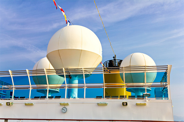 Cruise satellite domes
