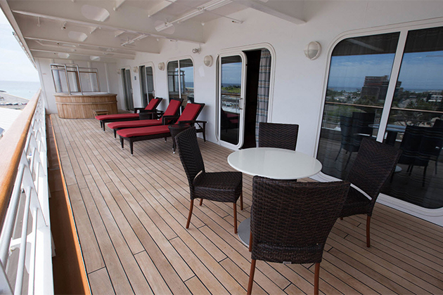 Cruise balcony vs suite a cabin comparison cruise critic for Balcony in cruise ship