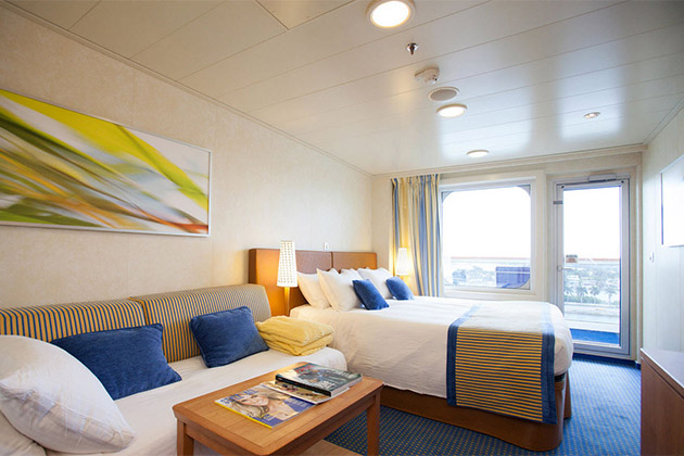 Cruise mini suite vs balcony cabins a cabin comparison for Balcony in cruise ship