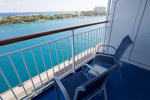 Oceanview vs balcony cabins a cabin comparison cruise for Balcony on cruise ship