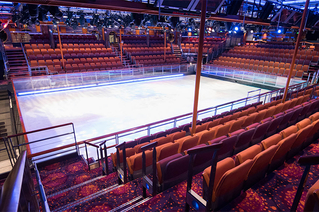 Ice rink on Freedom of the Seas
