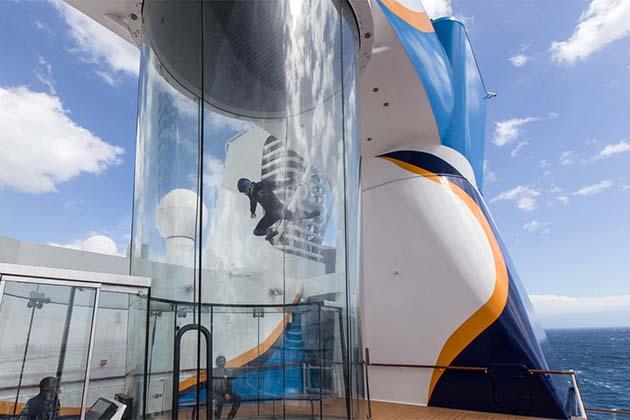 Sky Diving Simulator on Anthem of the Seas
