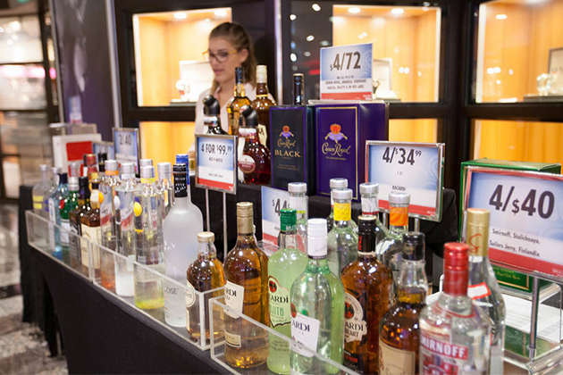 Discounted liquor on Carnival Sunshine