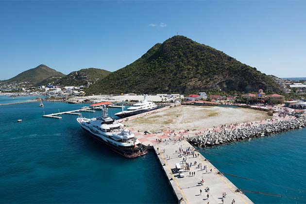Caribbean port of St. Maarten.