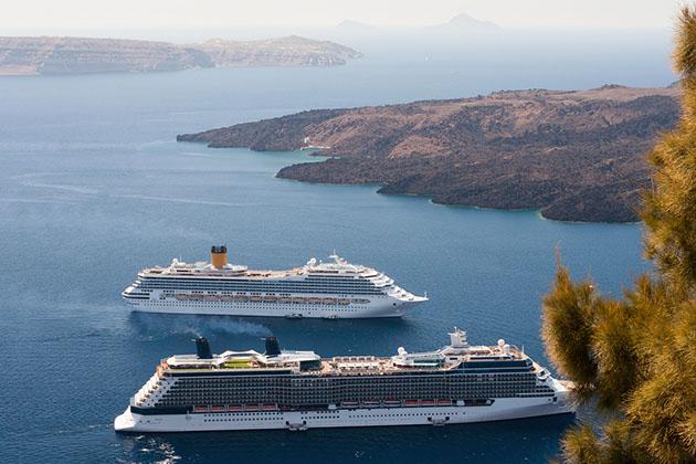 Mediterranean cruise ships