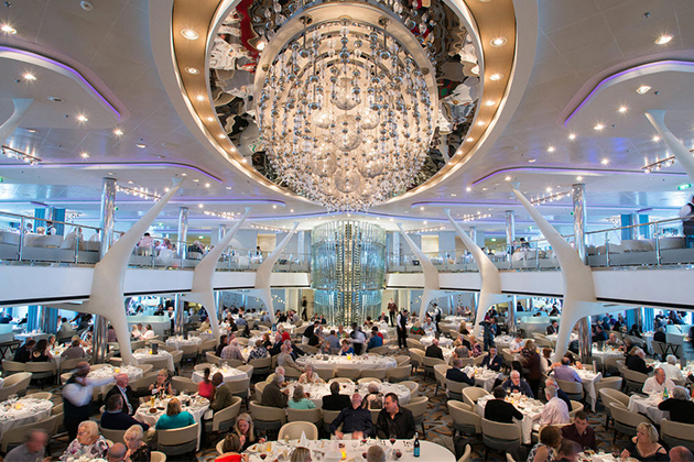 The Moonlight Sonata Dining Room on Celebrity Eclipse