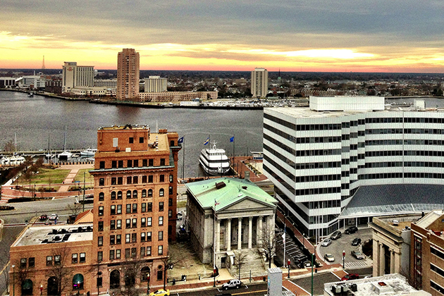 Norfolk, Virginia's waterfront