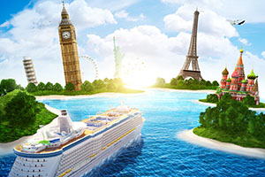 world cruise ship monuments ocean