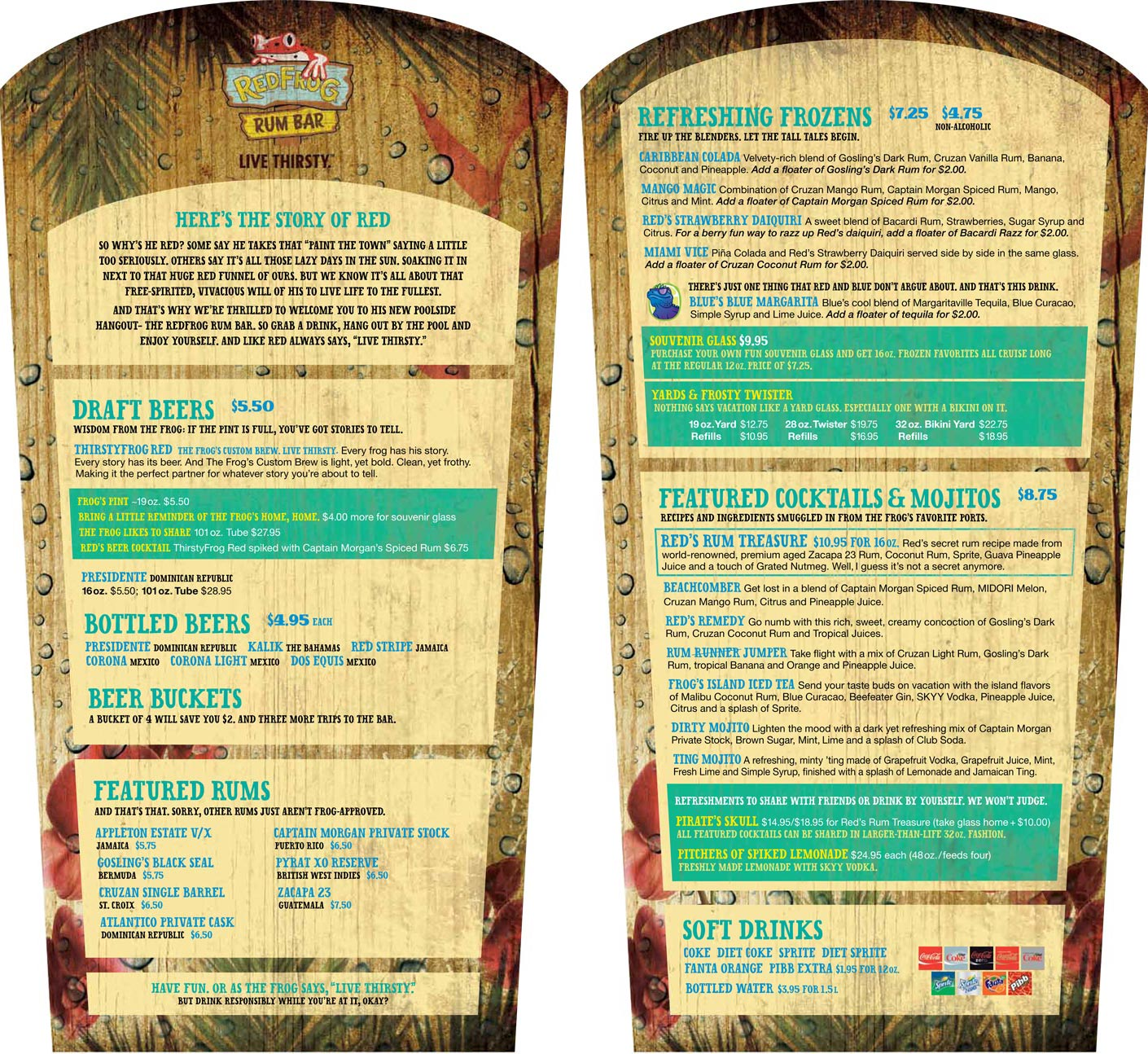 Drink Menu Tequila Bar Carnival
