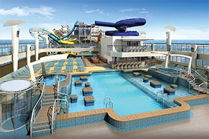 Norwegian Escape's new waterpark