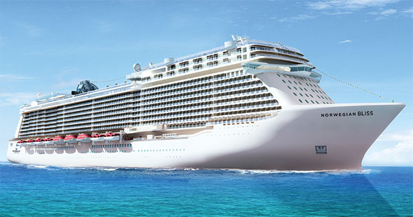 Norwegian Bliss Building Begins Norwegian Cruise Line