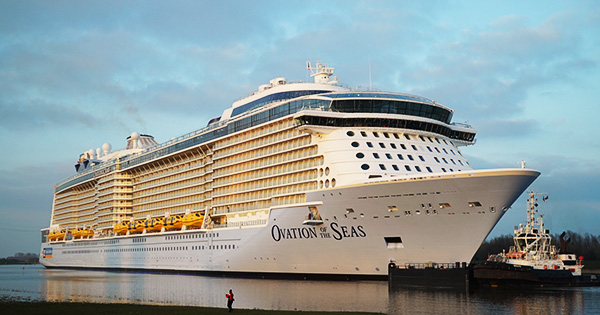 Royal Caribbean S Ovation Of The Seas Cruise Ship Begins Conveyance To The Sea
