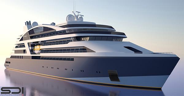 New Ponant ship rendering